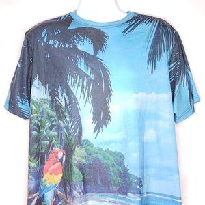 Caribbean Size L All Over Print Moisture Wicking T